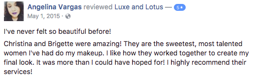 Luxe and Lotus Review - Angelina