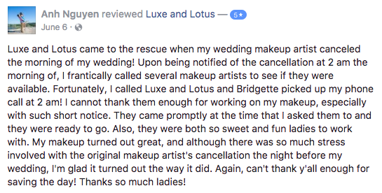 Luxe and Lotus Review - Anh