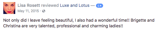 Luxe and Lotus Review - Lisa