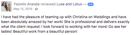 Luxe and Lotus Review - Yazmin